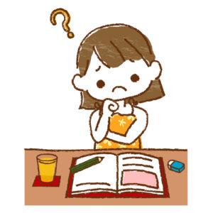 勉強している女の子イメージ画像